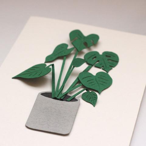 Monstera Houseplant Papercut