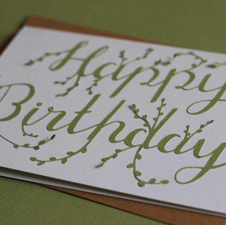 Happy Birthday Papercut Card