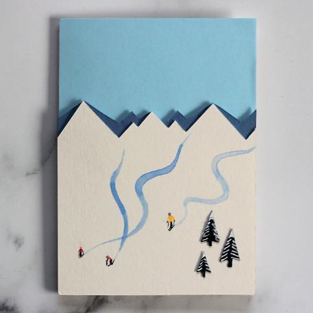 Handmade Skiers Card