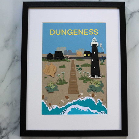 Dungeness Papercut Illustrations