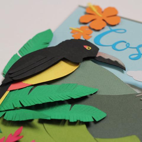 Costa Rica papercut - detail