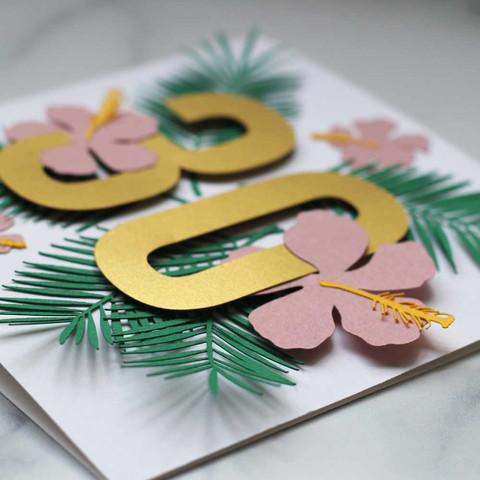 30th Birthday Papercut Card