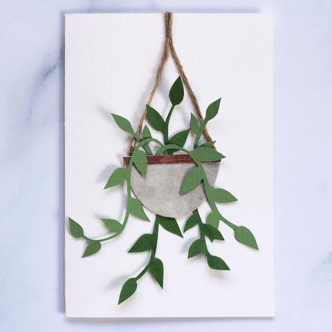 Tradescantia Houseplant Papercut