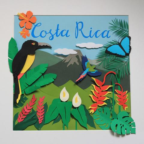 Costa Rica Papercut