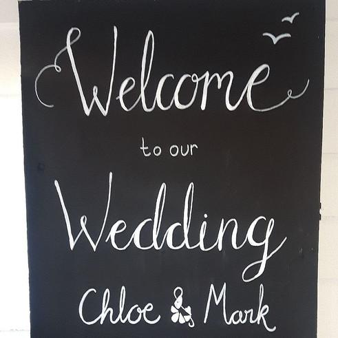 Welcome Wedding Chalkboard
