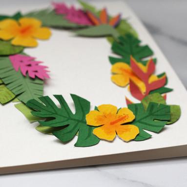 Tropical Number Papercut - Detail