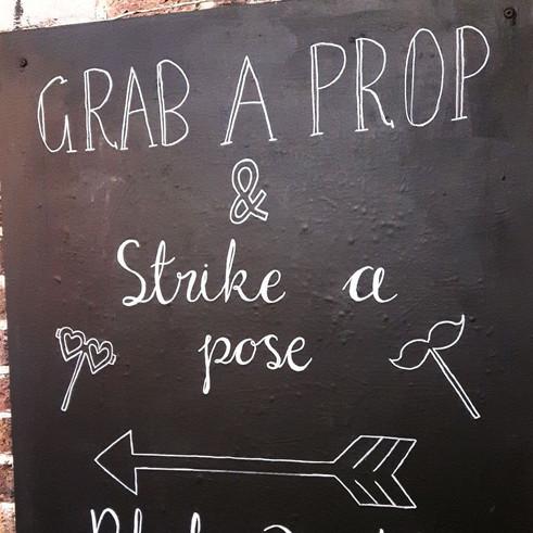Photobooth Wedding Chalkboard
