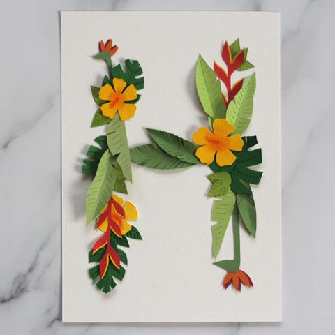 Tropical Initial Papercut