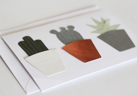 Succulents Papercut