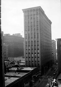 Historic Healey Building in Atlanta Fairlie-poplar district.