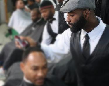 Owner and operater Herbert Williams of Vintage the Barbershop Atlant.