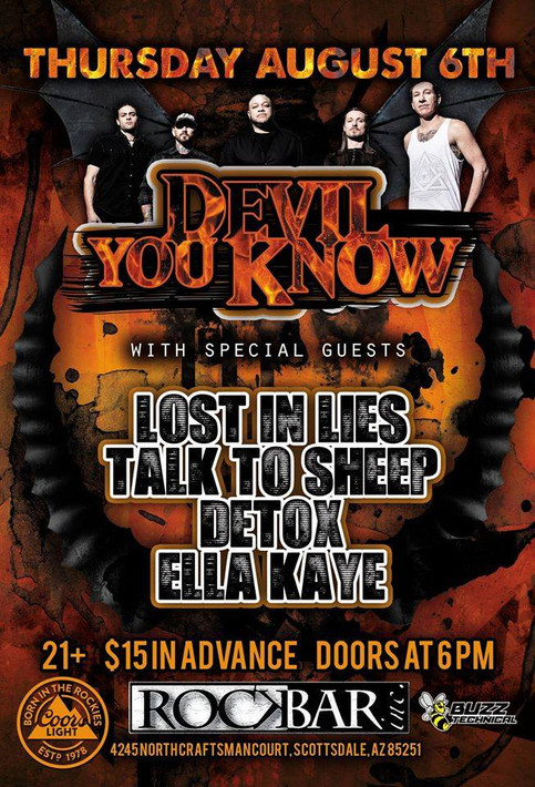 Lost In Lies Direct support for Devil You Know