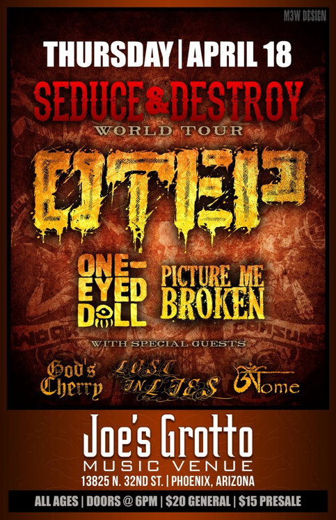 LOST IN LIES OPENING FOR OTEP, ONE EYED DOLL, PICTURE ME BROKEN