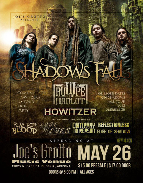 Lost In Lies Opening For Shadows Fall, Trumpet The Harlot, & Howitzer