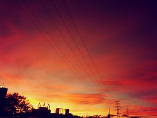 すごくきれいな夕焼け