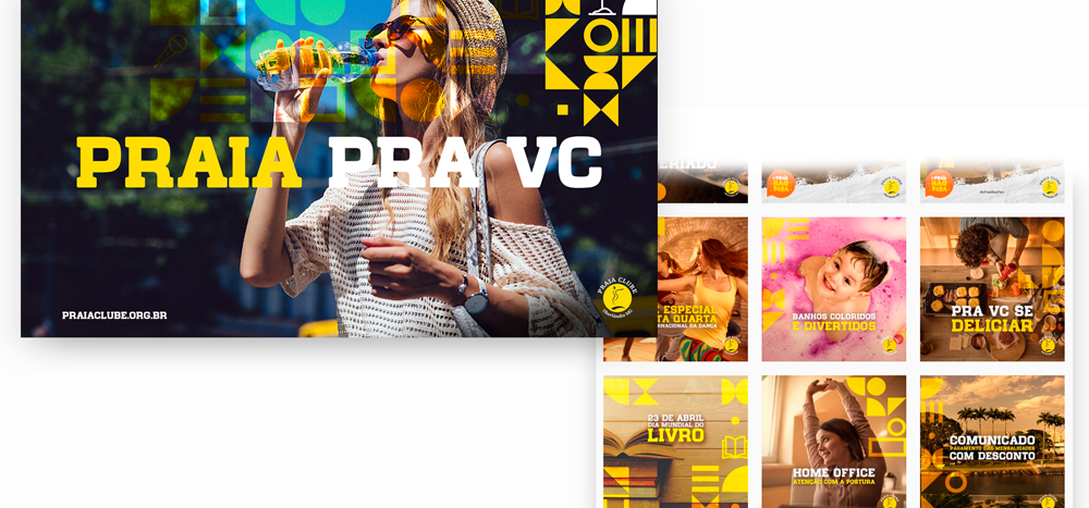 Identidade visual Praia Clube