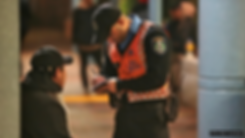 Perth Train Station Transit Guards patro
