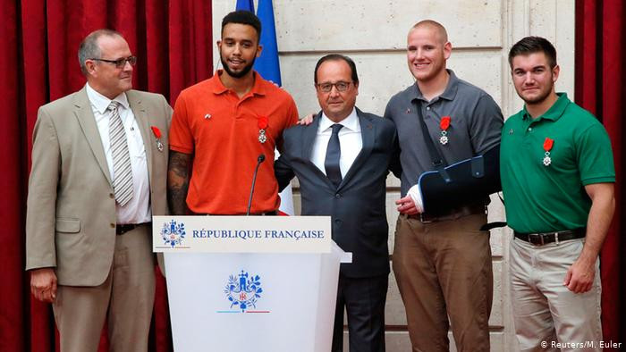 Stone, Skarlatos, Sadler and Norman awarded the Légion d'honneur (Knights of the Legion of Honour), highest French order for military and civil merits