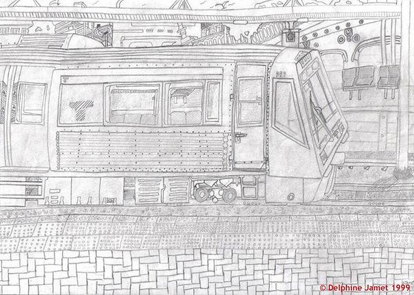 Perth Train Station - Westrail Train - Platform One - Delphine Jamet 1999