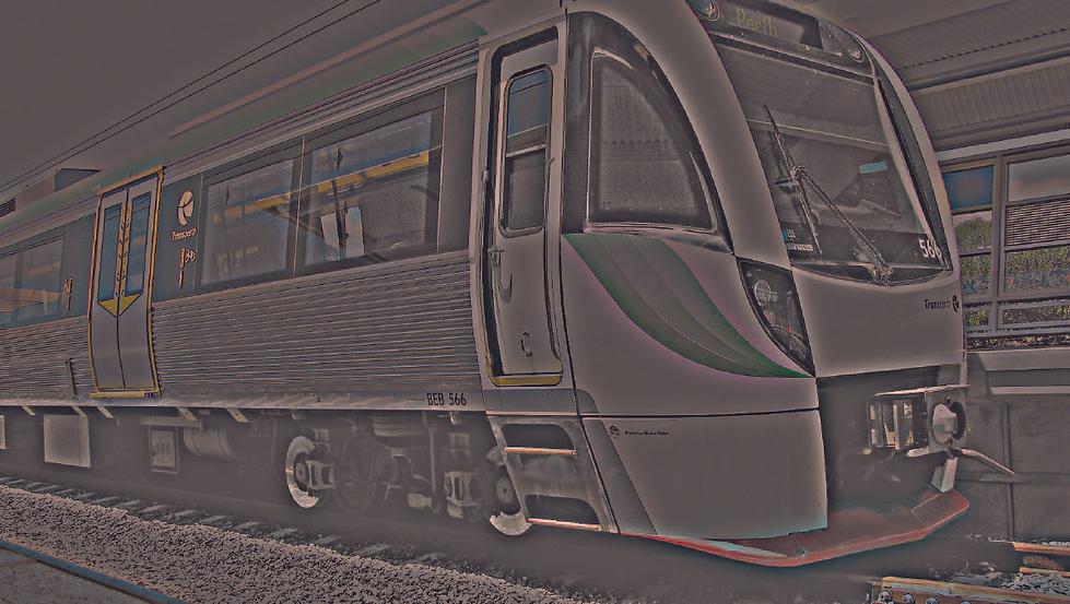 Perth train station night Westrail Trans