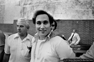 Son of Sam David Berkowitz is arrested by police at his apartment in Yonkers New York and charged with the murder of six victims and injuring 13 others