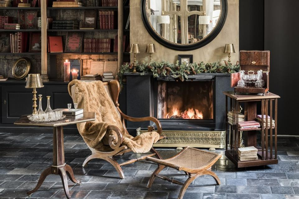 A warm and cosy fireplace, a perfect scene for any budding writer