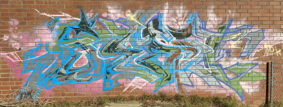 28 - A graffiti tag at the abandoned Fremantle Freight & Storage Warehouse - 02 April 2021