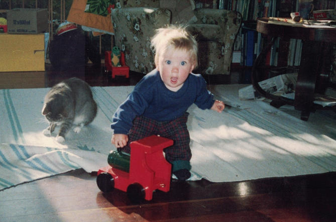Photo of a boy playing at home with the