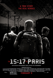 Clint Eastwood's The 15 17 to Paris movie poster Thalys high-speed 9364 train Amsterdam Centraal Railway Station to France terrorist attack foiled