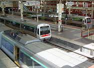 View of the Perth Train Station from the