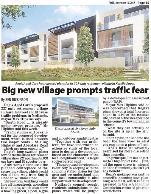 Big new village prompts traffic fear - 1
