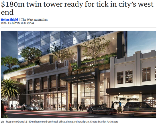 $180m twin tower ready for tick in city'