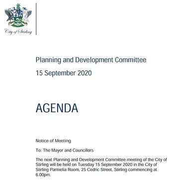 City of Stirling Planning and Developmen