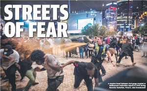 Melbourne crime wave African gangs apex moral panics increased criminal activity resulting in racial profiling in selective media reporting heavier police presence and taskforce increased arrests