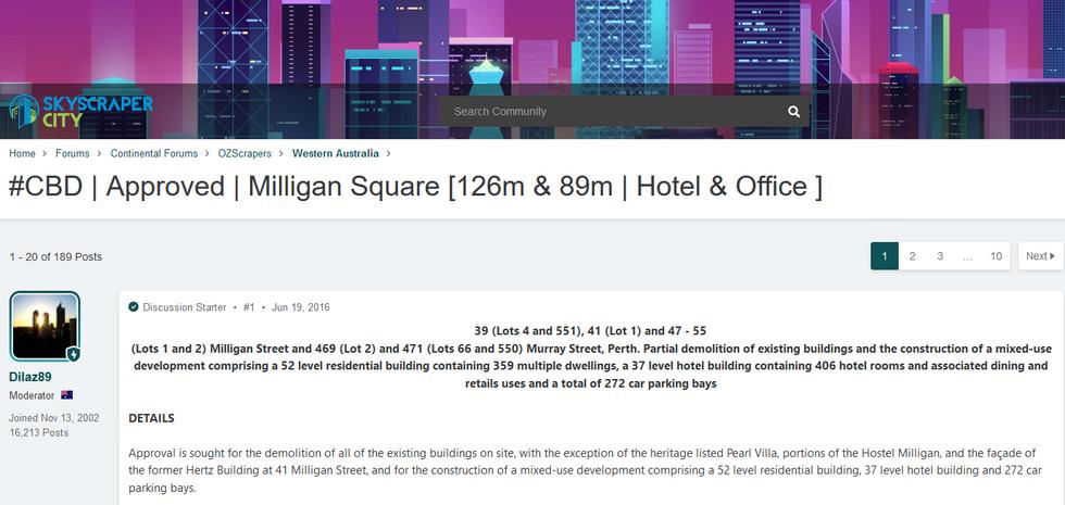 CBD Approved Milligan Square Skyscraper