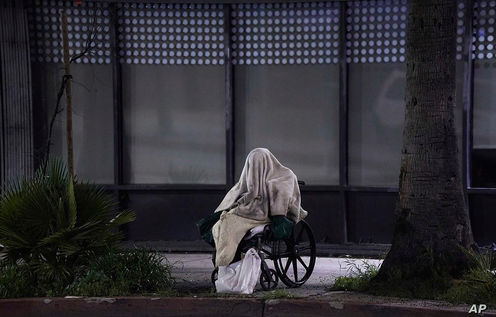 Homeless man living on the streets homel