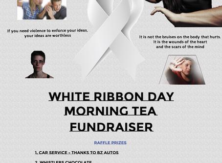White Ribbon Morning Tea Poster