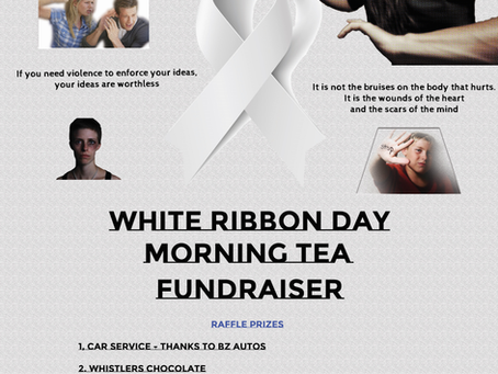 White Ribbon Morning Tea Poster