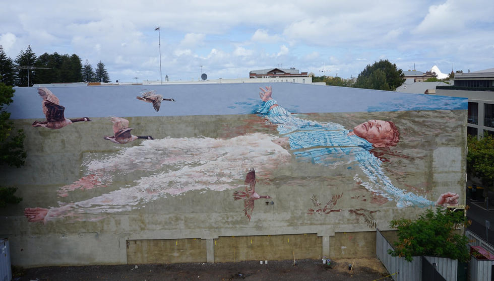 Mural dedicated to six Irish Fenian Prisoners who escaped from Fremantle Prison in 1876 by