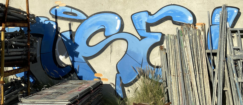 24 - Fuse graffiti tag at the abandoned Fremantle Freight & Storage Warehouse - 02 April 2