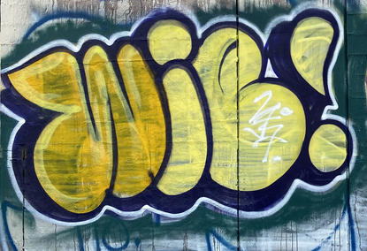 Graffiti tag in a vacant block at 190 Adelaide Terrace, East Perth - 05 March 2021