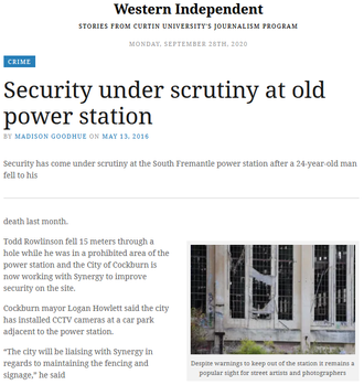 Security under scrutiny at old power station