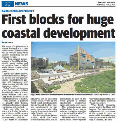 First blocks for huge coastal development