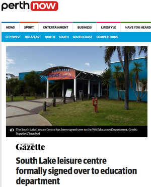 South Lake leisure centre formally signe