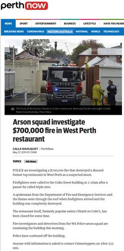 Arson squad investigate $700,000 fire in West Perth