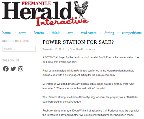 Power station for sale?