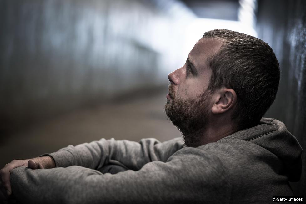 Drug user addict withdrawing feeling sor