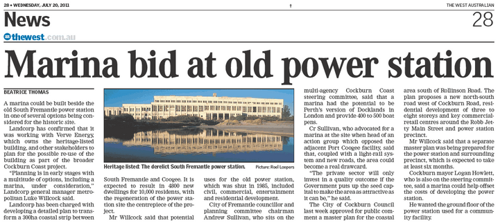Marina bid at old power station