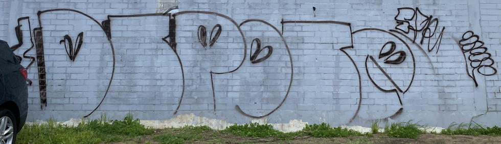 A graffiti tag in the carpark of 236 Adelaide Terrace, East Perth - 18 September 2020