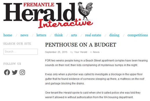Penthouse on a budget Beach Street apart